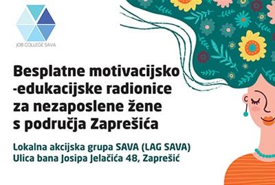 Besplatne motivacijsko-edukacijske radionice za nezaposlene žene s područja Zaprešića