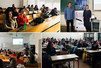Predstavljanje projekta OdraziSeZnanjem studentima Ekonomskog fakulteta u Zagrebu