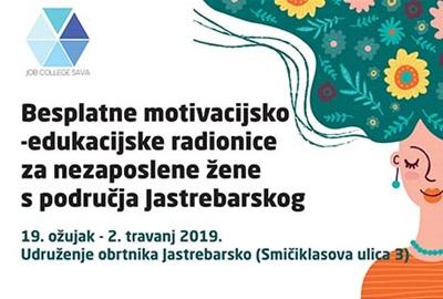 Besplatne motivacijsko-edukacijske radionice za nezaposlene žene s područja Jastrebarskog