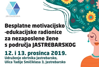 Besplatna motivacijsko-edukacijska radionica za nezaposlene žene s područja Jastrebarskog