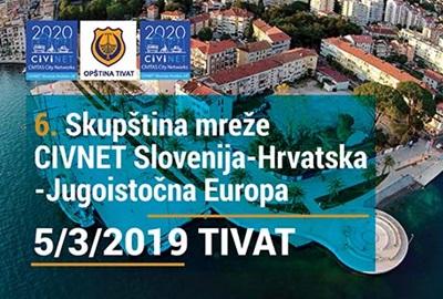Otvorene prijave za sudjelovanje na 6. Skupštini mreže CIVINET Slovenija-Hrvatska-JIE u Tivtu