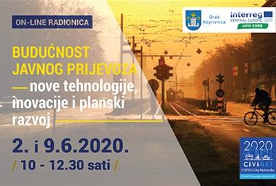"""On-line radionica """"Budućnost javnog prijevoza – nove tehnologije, inovacije i planski razvoj"""""""