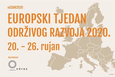 Europski tjedan održivog razvoja 2020. održat će se od 20. do 26. rujna!