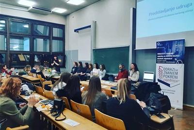 Gostujuća predavanja na fakultetima o radu udruga i iskustvu provedbe društveno korisnog učenja
