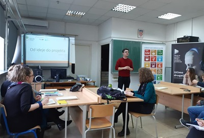 Fourth training block about Sustainable development and Organising community was held in School for graphics, design and media production in Zagreb
