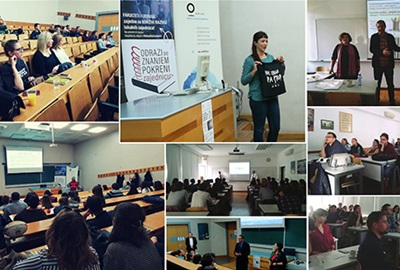 """Presentation of the project """"Leaps of knowledge – engaged community"""" for the students of the Faculty of Economics and Business and Faculty of Graphic Arts"""