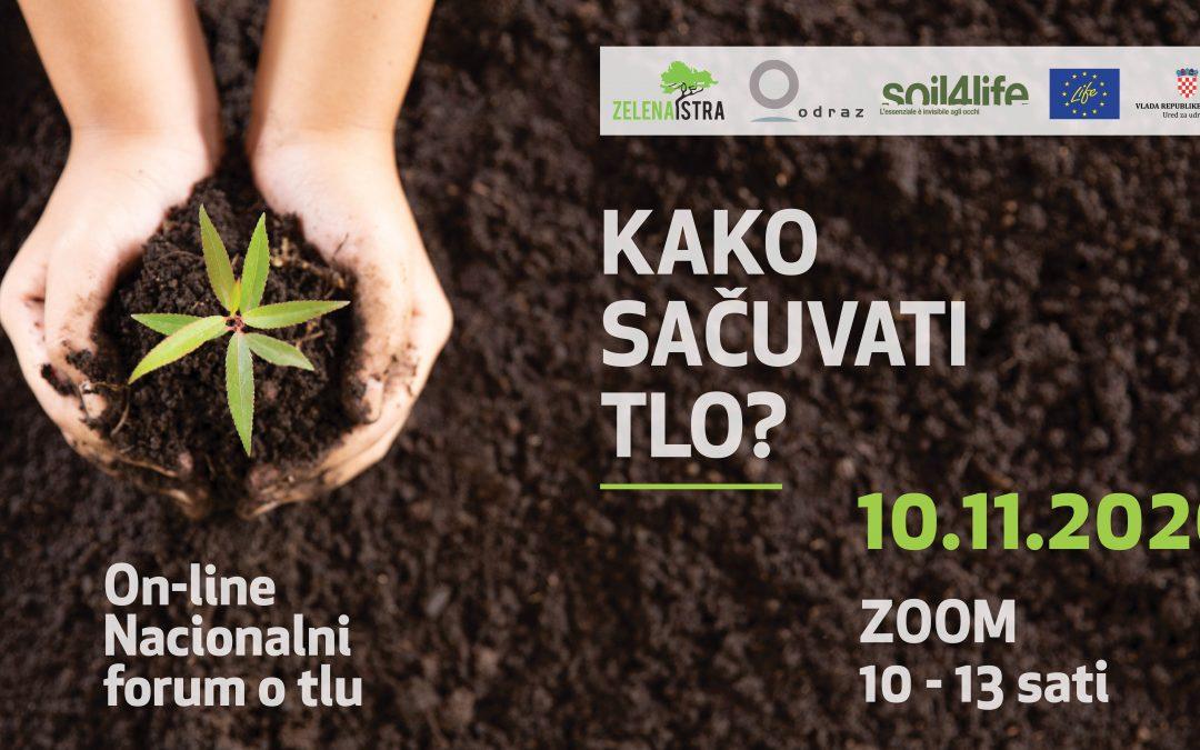 Poziv na on-line Nacionalni forum o tlu: Kako sačuvati tlo