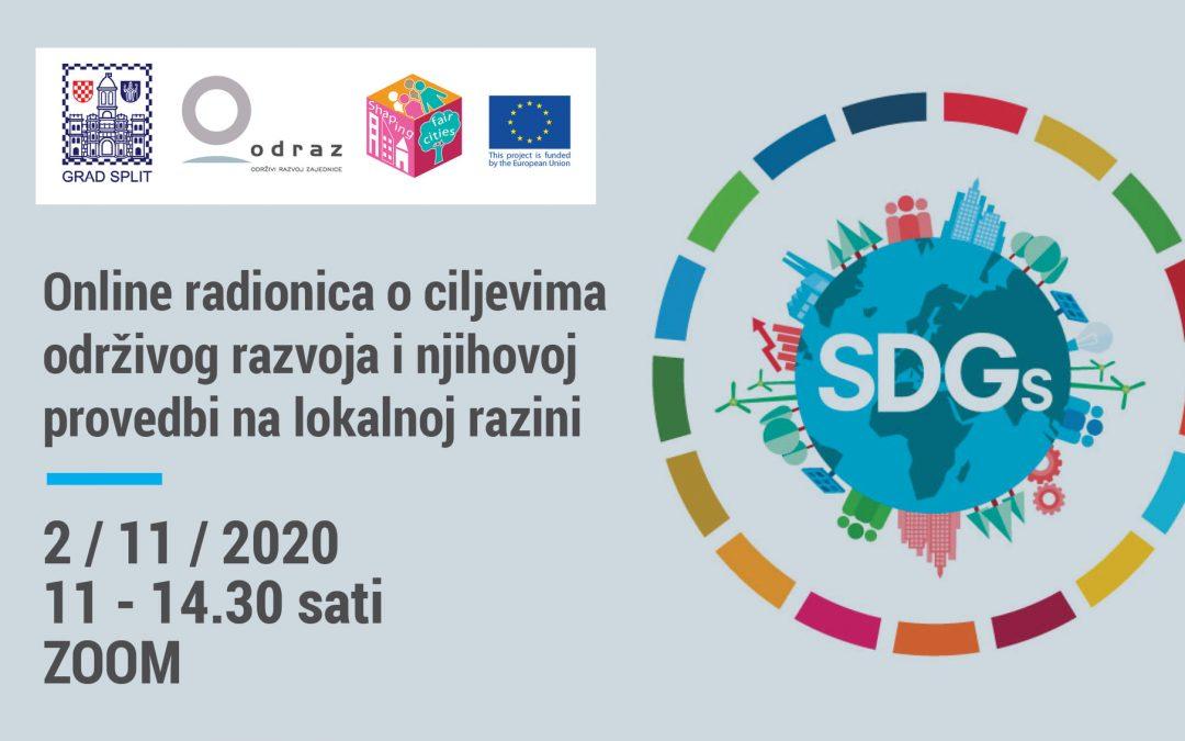 Online radionica o ciljevima održivog razvoja i njihovoj provedbi na lokalnoj razini