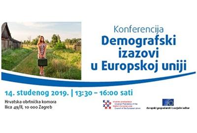 """Europski gospodarski i socijalni odbor poziva na konferenciju """"Demografski izazovi u Europskoj uniji"""""""
