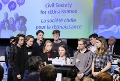 "Greta Thunberg na EGSO-vom skupu ""Civilno društvo za rEUnesansu"""