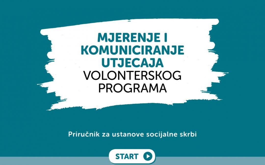 """Priručnik """"Mjerenje i komuniciranje utjecaja volonterskog programa"""""""