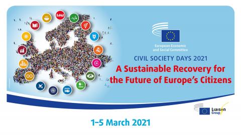 Dani civilnog društva 2021.: održivi oporavak za budućnost europskih građana