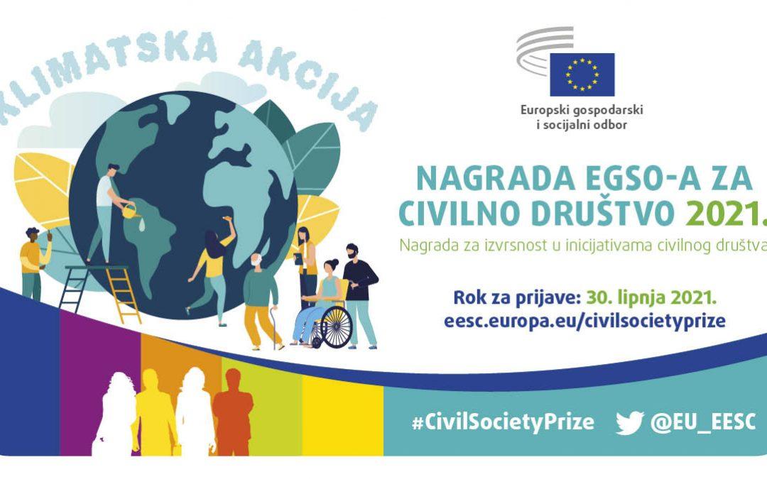 EGSO pokreće Nagradu za civilno društvo 2021. posvećenu klimatskom djelovanju