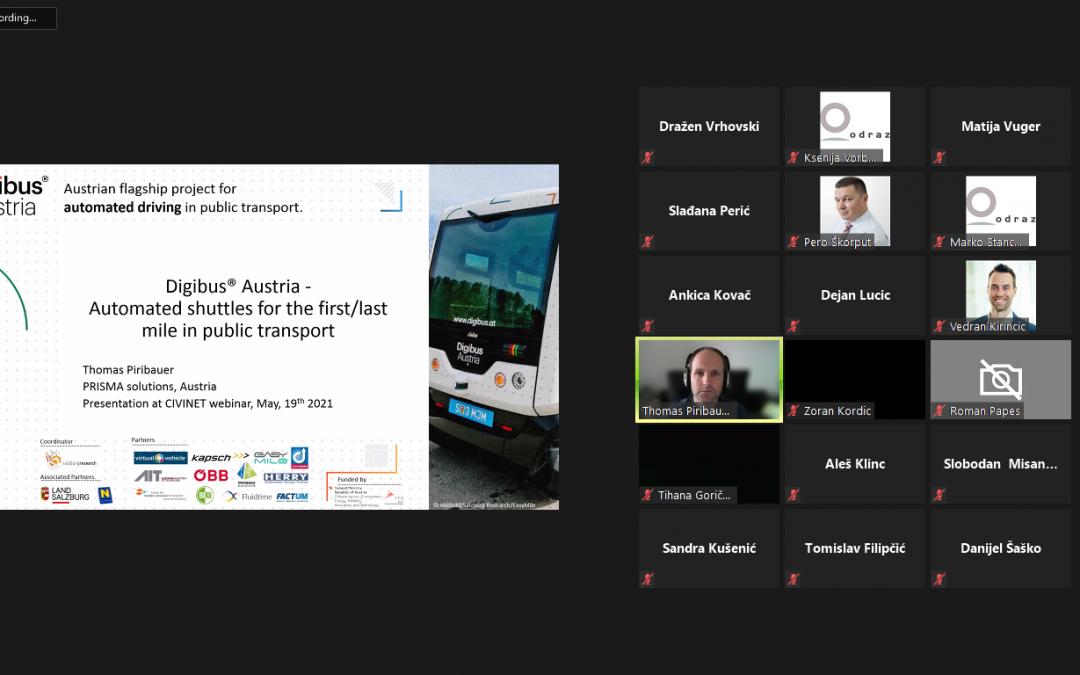 Održan CIVINET-ov webinar o čistim vozilima i inovativnim tehnologijama u planiranju održivog prometa