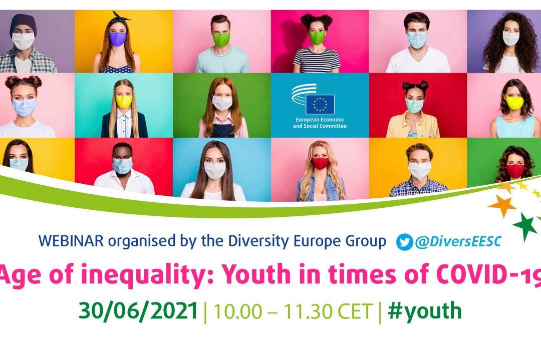 Poziv na webinar Doba nejednakosti: Mladi u doba COVID-19