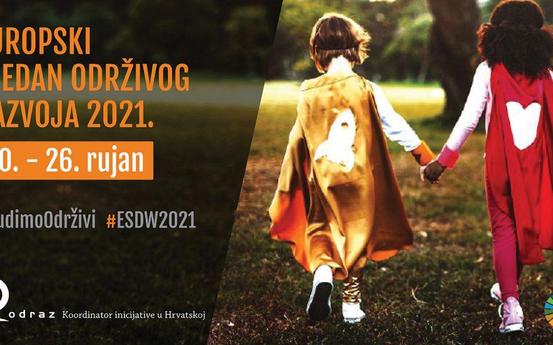 Otvorene prijave za Europski tjedan održivog razvoja 2021.!