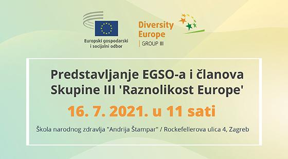 Poziv na predstavljanje EGSO-a i članova Skupine III Raznolikost Europe
